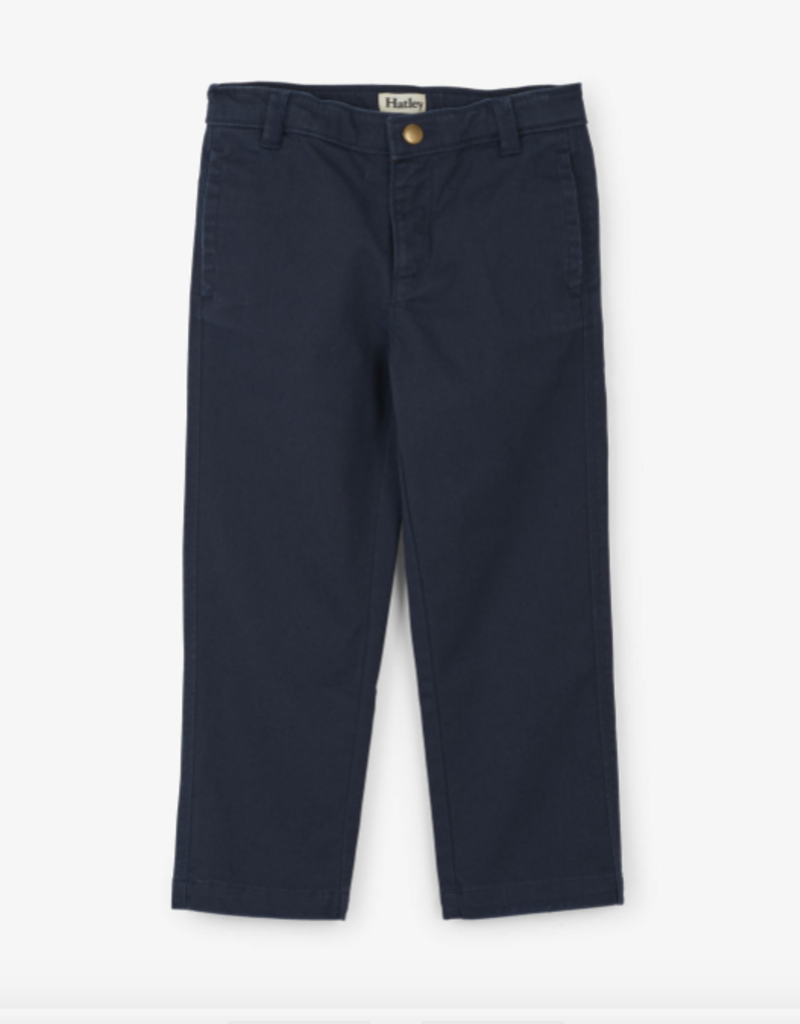 Hatley Navy Twill Pants 3T, 4T