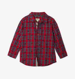 Hatley Holiday Plaid Moose Baby Shirt 6/9M, 9/12M
