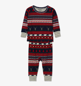 Hatley Fair Isle Stags Organic Baby PJ Set 3/6M-12/18M