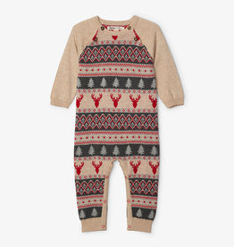 Hatley Fair Isle Stags Sweater Romper 3/6M-18/24M