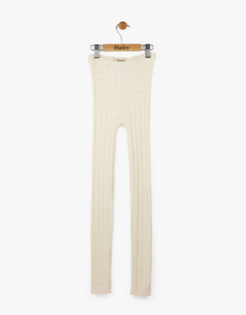 Hatley Cream Cable Knit Leggings