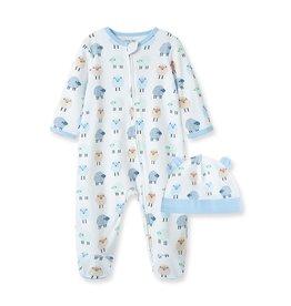Little Me Dotty Lambs Footie w/Hat NB-9M