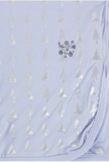 Kickee Pants Swaddle Frost Silver Trees