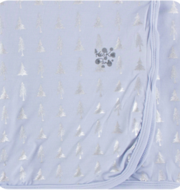Kickee Pants Frost Silver Trees Swaddle