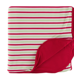 Kickee Pants Candy Cane Stripe Double Throw Blanket