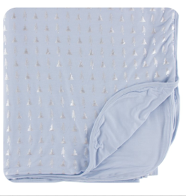 Kickee Pants Frost Silver Trees Double Throw Blanket