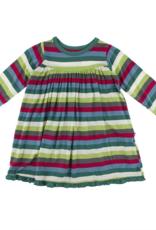 Kickee Pants L/S Swing Dress 2020 Multi Stripe