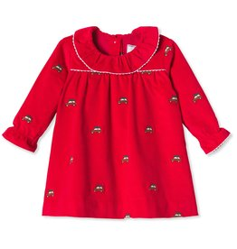 Classic Prep Elsa Dress Crimson w/Woodies 3/6M-2T