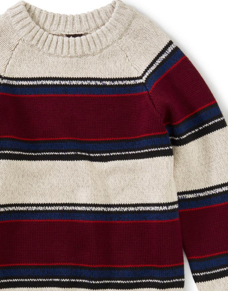 Tea Collection Striped Crewneck Sweater Gaucho Stripe