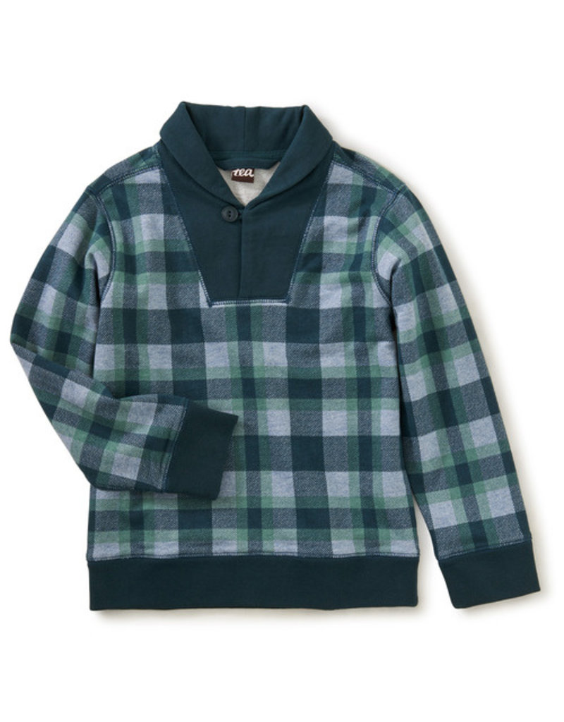 Tea Collection Shawl Collar Popover Terry Plaid