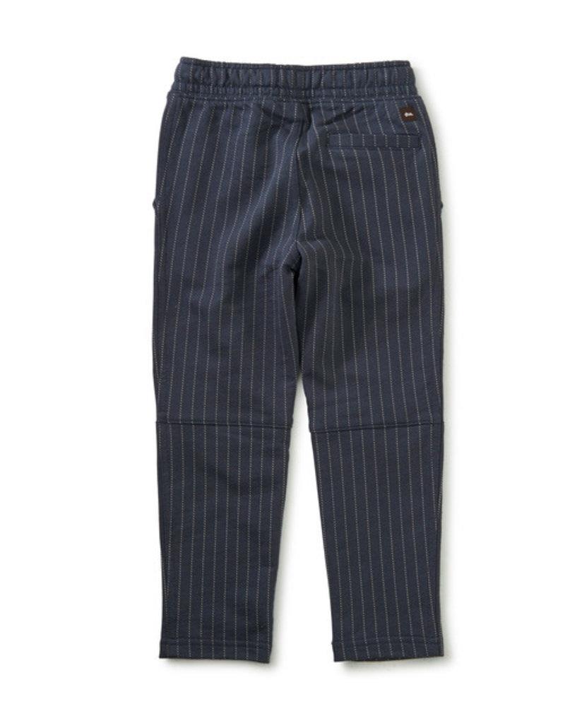 Tea Collection Printed Trek Pant Black Ticking Stripe