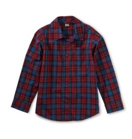 Tea Collection Plaid Button Up Shirt Family Plaid 2T-14