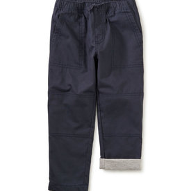 Tea Collection Cozy Jersey Lined Pant Indigo 12