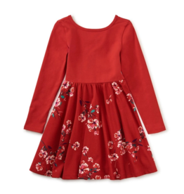 Tea Collection Ballet Skirted Dress Ruby 2T-12