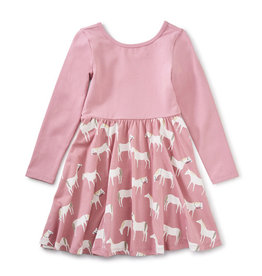 Tea Collection Ballet Skirted Dress Horse Herd 2T-12