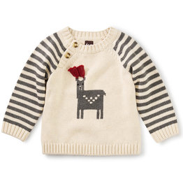 Tea Collection Alpaca Sweater Oatmeal 3/6M-4T