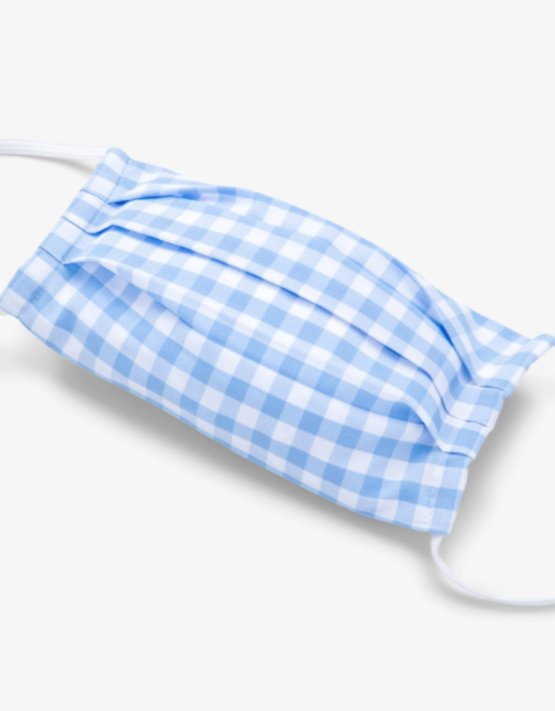 Mizzen+Main Mizzen+Main Lt Blue Gingham Face Mask