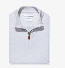 Mizzen+Main Hillman 1/4 Zip Lt Grey Sweater S-XL