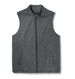 Mizzen+Main Fairway Charcoal Heather Vest L, XL