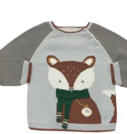 Zubels Fox Sweater Grey 12M