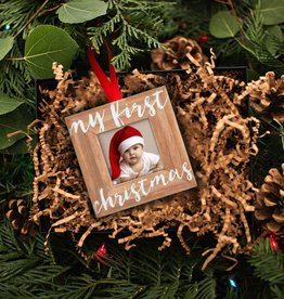 My 1st Christmas Wooden Ornament