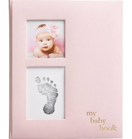 Linen Baby Memory Book/Ink Kit Pink