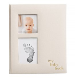 Linen Baby Memory Book/Ink Kit Ivory
