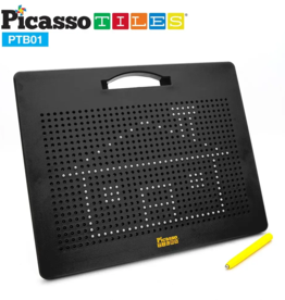 Picasso Tiles Large Magnetic Drawing Board Black