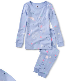 Tea Collection Glow L/S Pajamas Glow in Dark Galaxy 2T-12