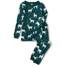 Tea Collection Printed Pajamas Night Deer 3T-12