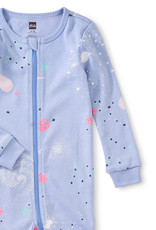 Tea Collection Glow Patterned Footed PJ's Glow in Dark Galaxy