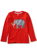 Tea Collection Wooly Mammoth Graphic Tee Poppy 2T-12