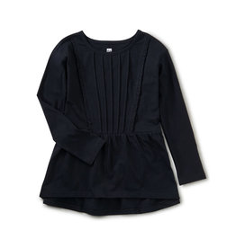 Tea Collection Pleated Pintuck Top Jet Black 2T-12