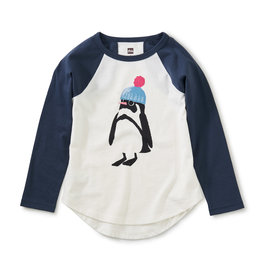 Tea Collection Penguin Graphic Tee Chalk 2T-6