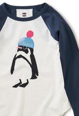 Tea Collection Penguin Graphic Tee Chalk