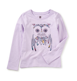 Tea Collection Embroidered Owl Graphic Tee 2T-12