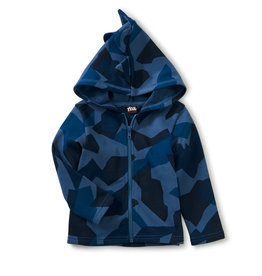 Tea Collection Dinosaur Zip Hoodie Glacier Camo 3/6M-4T