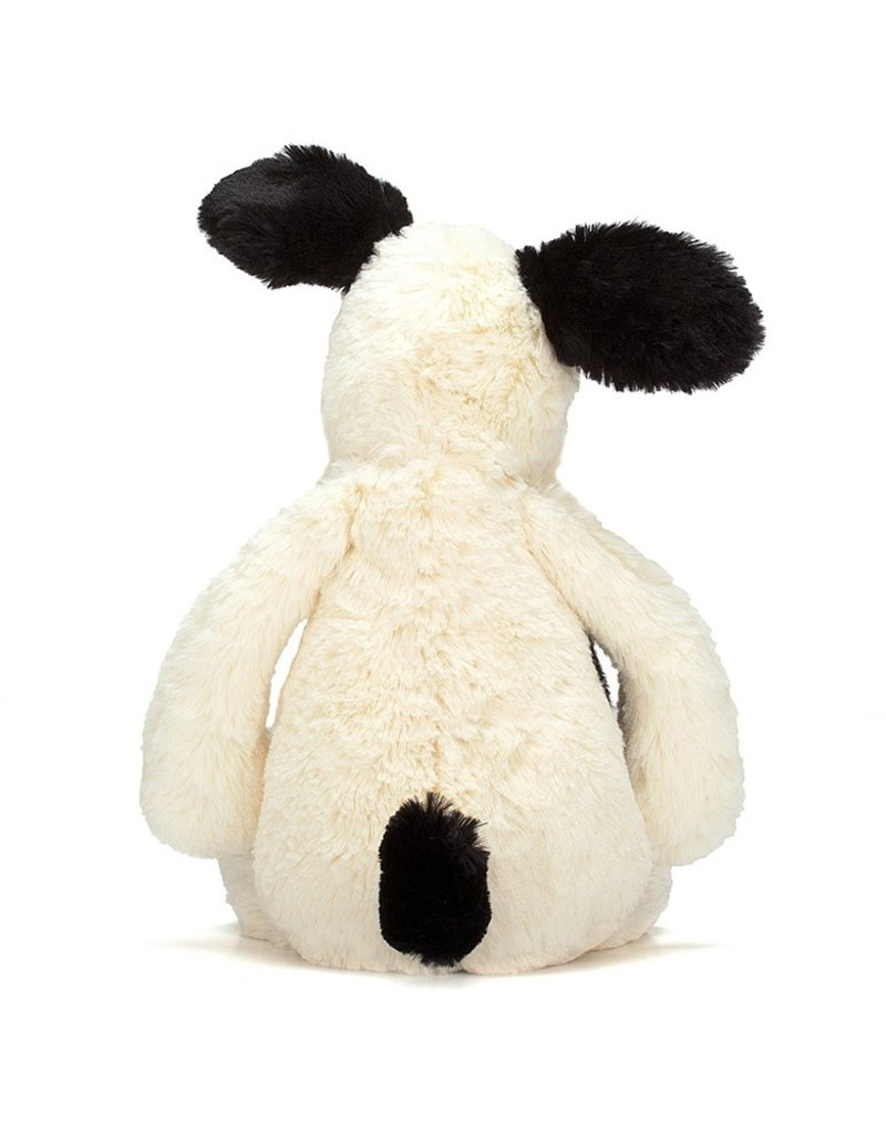 Jellycat Bashful Black/Cream Puppy