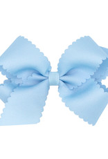 Wee Ones Med Scalloped Edge Bow Lt Blue