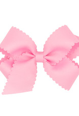 Wee Ones Med Scalloped Edge Bow Pearl