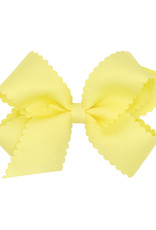 Wee Ones Med Scalloped Edge Bow Yellow