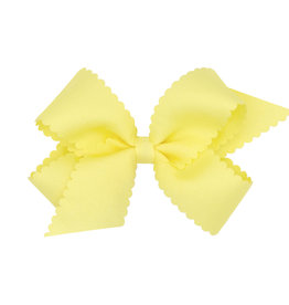 Wee Ones Med Scalloped Edge Bow Lt Yellow