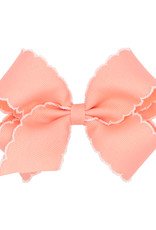 Wee Ones Med Bow w/Moonstitch Peach