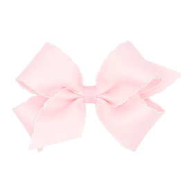 Wee Ones Med Bow w/Moonstitch Lt Pink