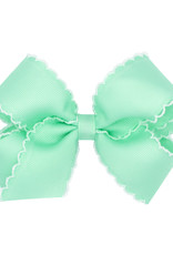 Wee Ones Med Bow w/Moonstitch Pearl Green