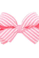 Wee Ones Mini Seersucker Bow Pink