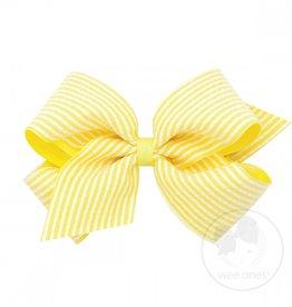 Wee Ones Med Seersucker Bow Yellow