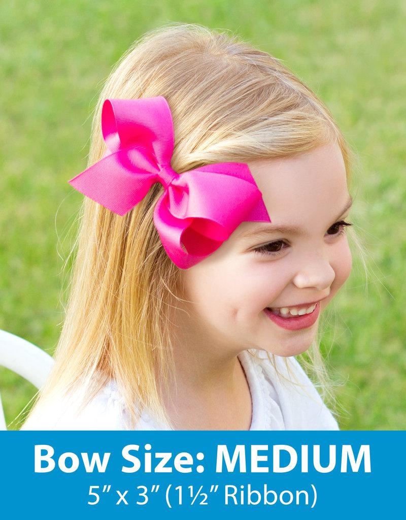 Wee Ones Med Seersucker Bow Pink