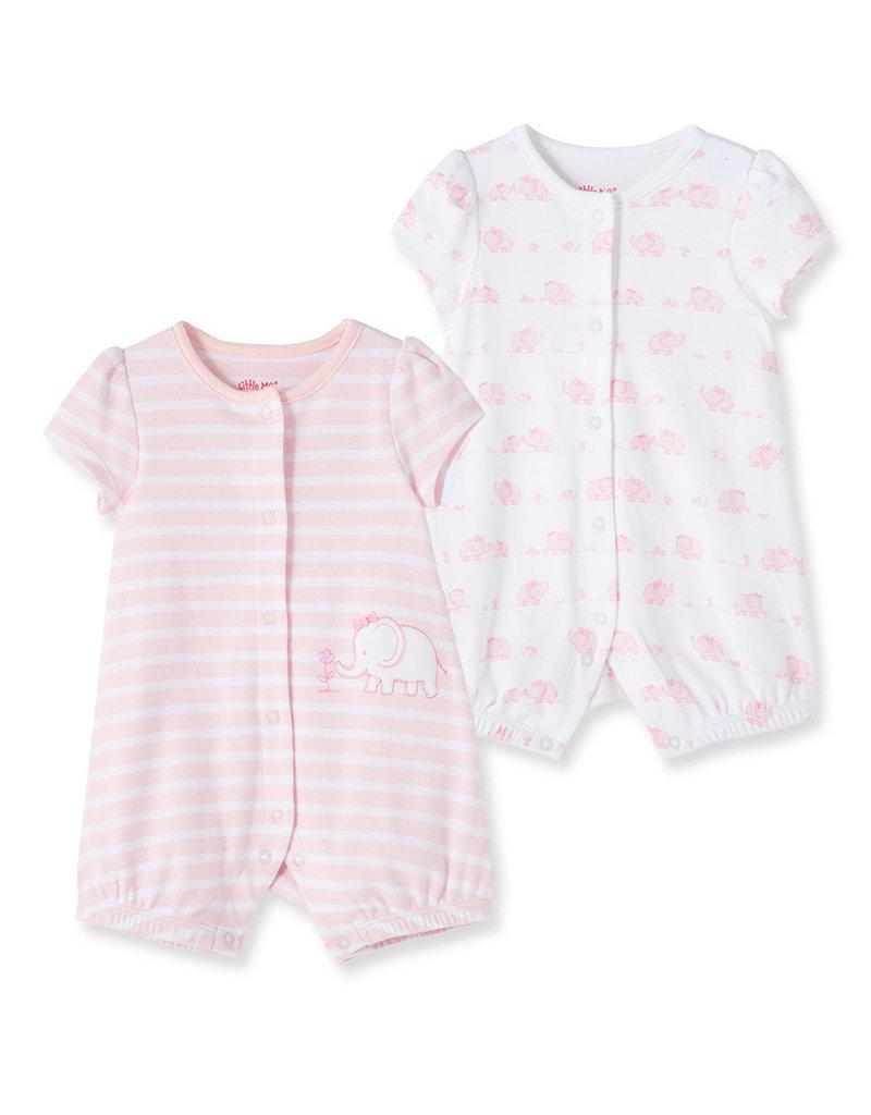 Little Me Ele 2 Pack Romper Pink