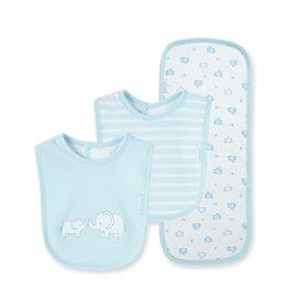 Little Me Elephant Bib/Burp Cloth Set